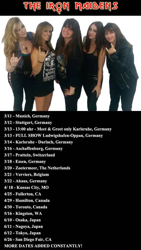 The Iron Maidens Euro Dates