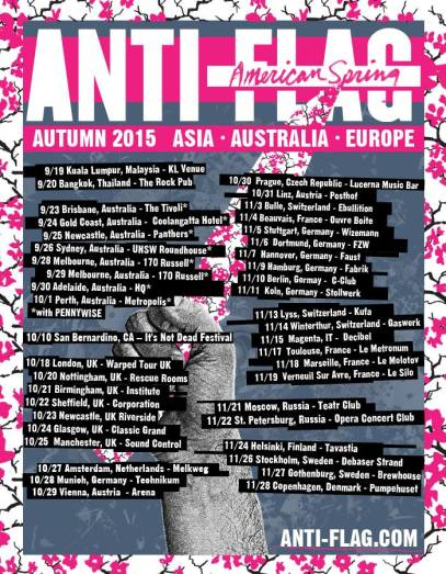 Anti flag Euro tour 2015