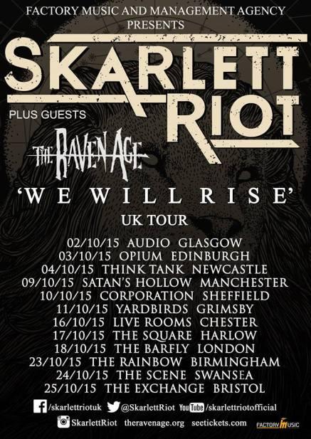 skarlett riot tour poster