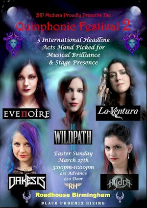 THE QUINPHONIC FESTIVAL boats five international female-fronted metal acts...